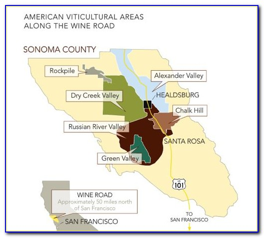 Sonoma Wine Route Map