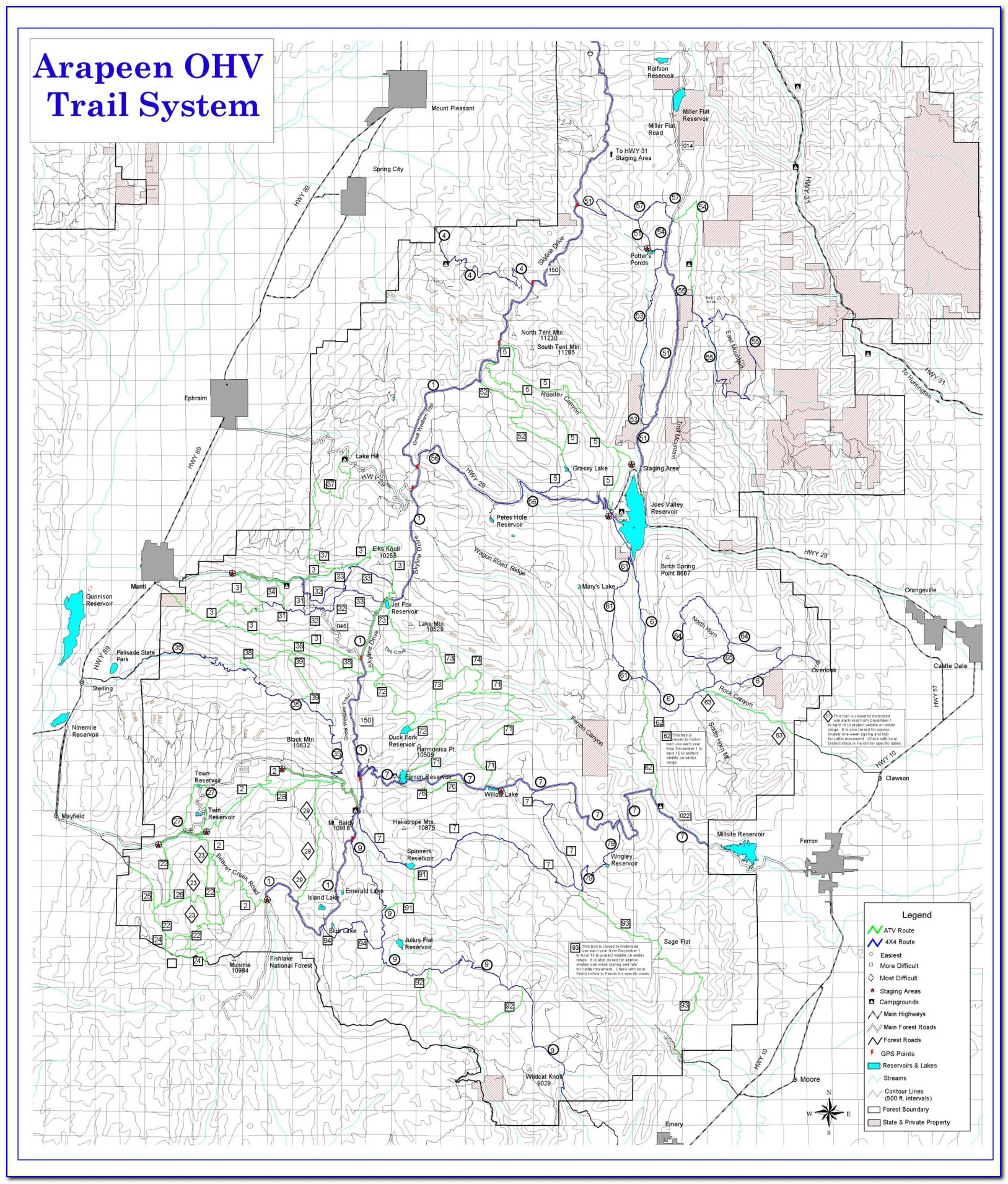 Southern Utah Atv Trail Maps