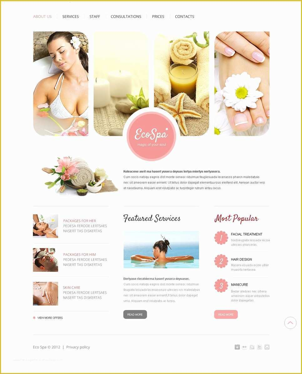 Spa Website Templates Free Download Of Beauty Salon Website Template