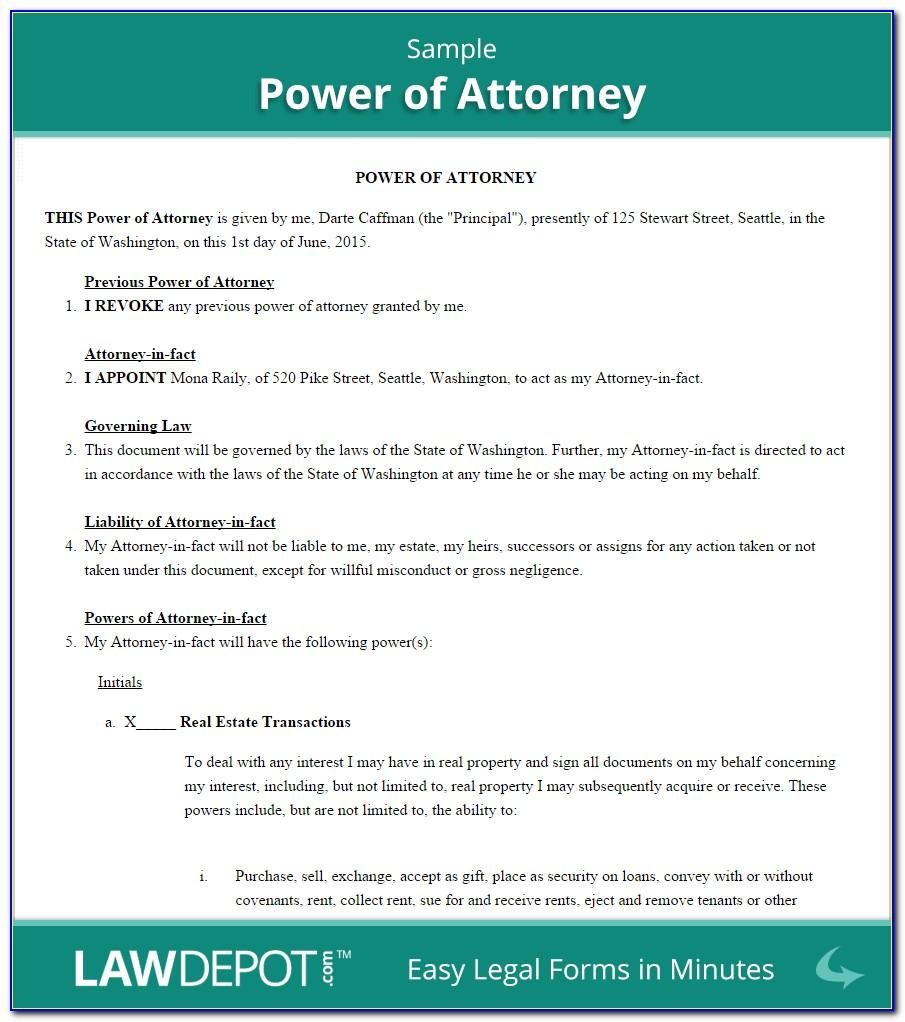 Special Power Of Attorney Template South Africa
