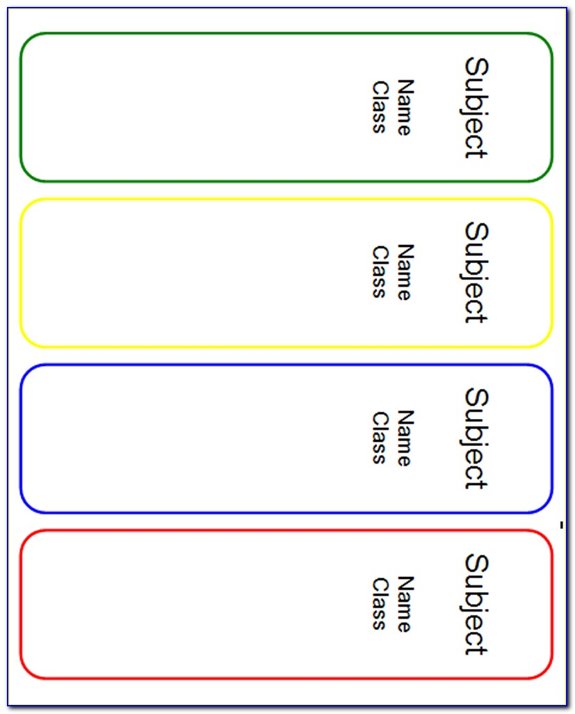 Spine Labels Templates Word