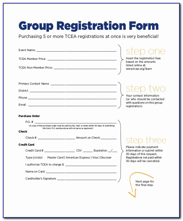 Download Sports Registration Form Template Free