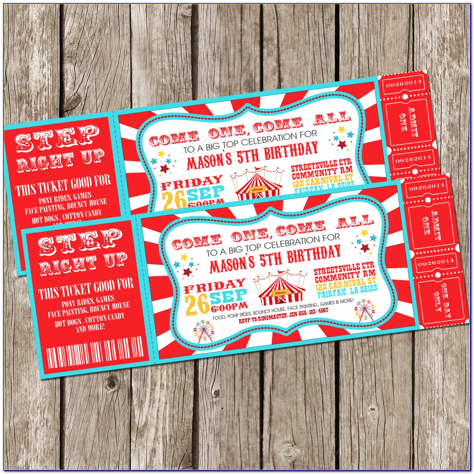 Sports Ticket Birthday Invitation Template Free