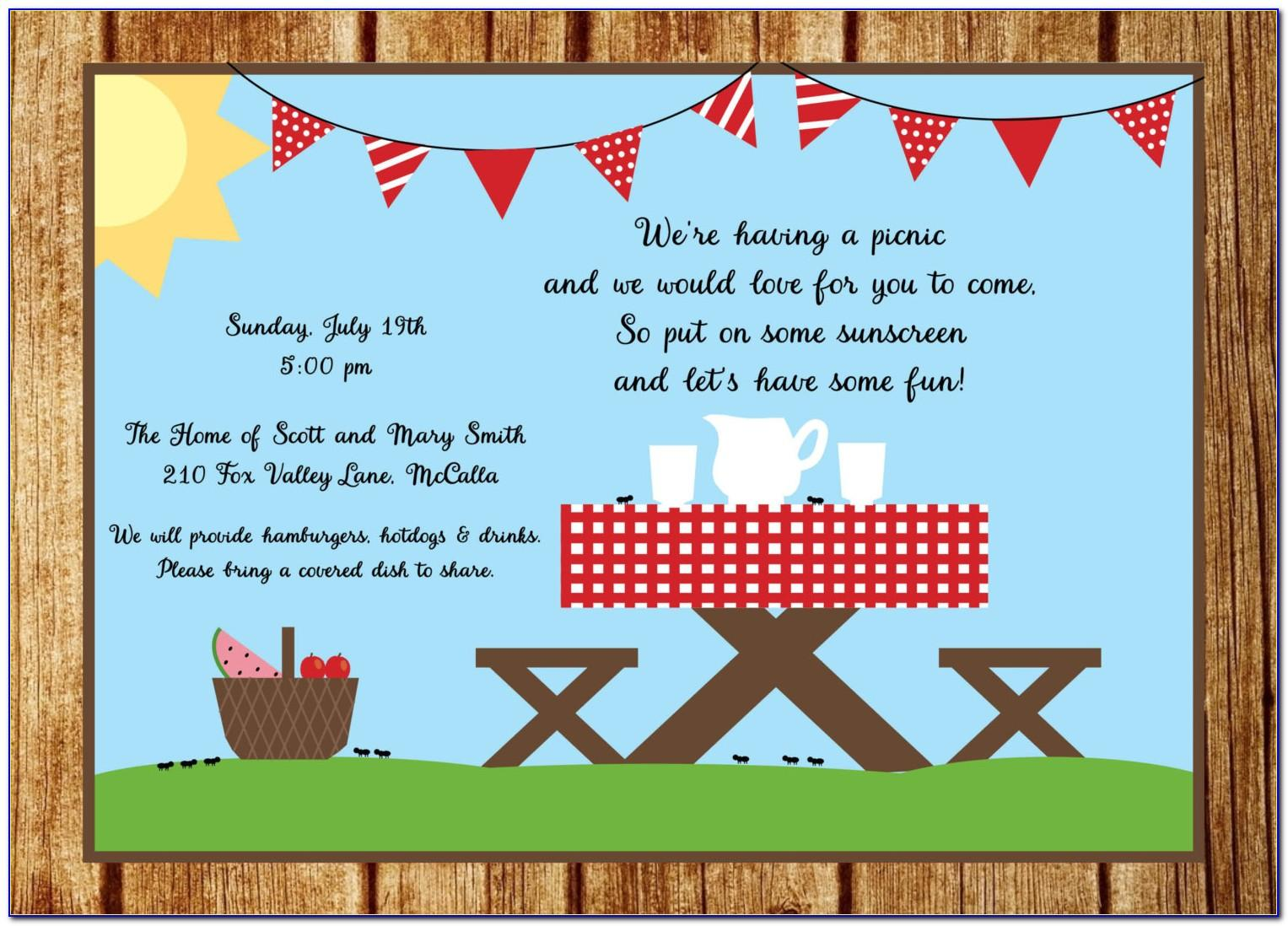 Spring Luncheon Invitation Template Free