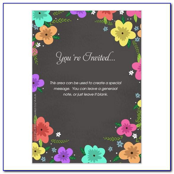 Spring Party Invitation Templates Free