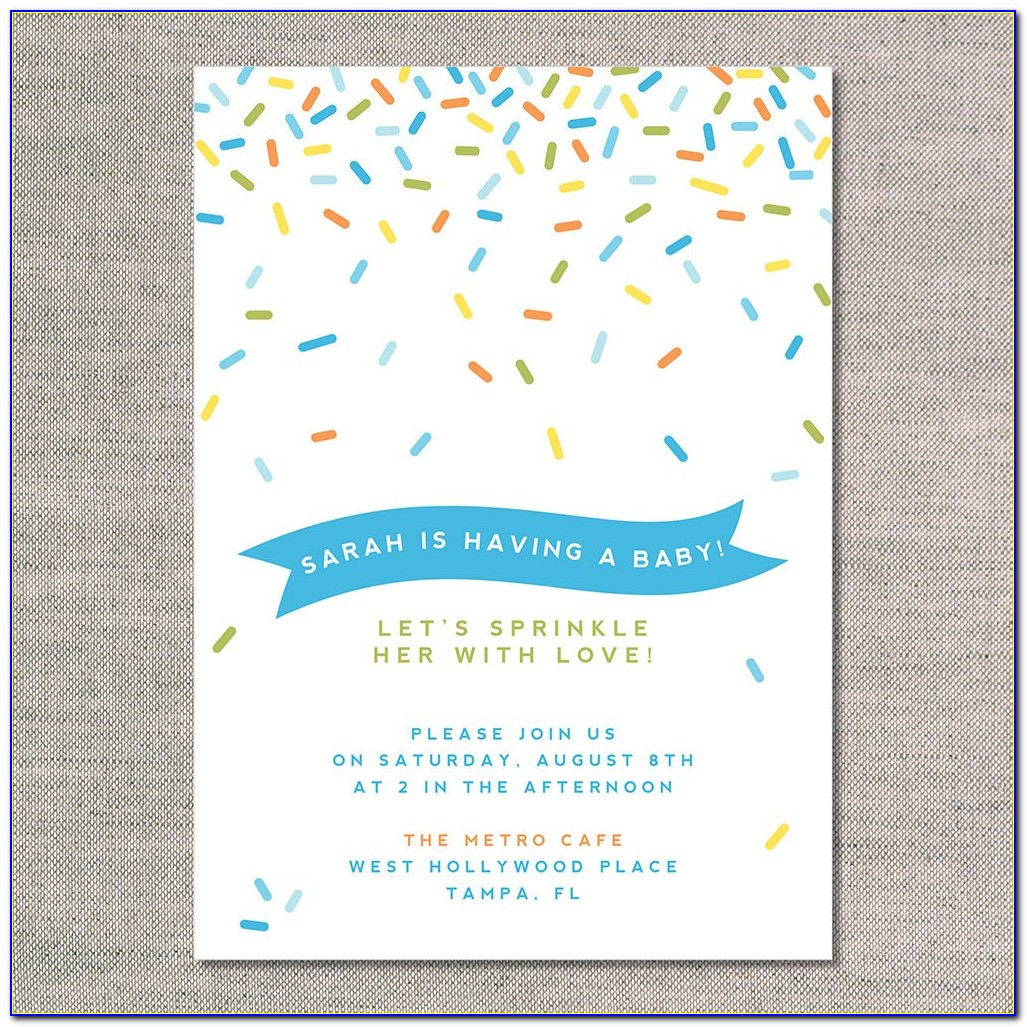 Sprinkle Invitations Templates