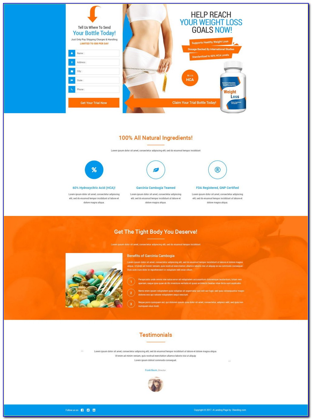 Squeeze Page Template Free Download