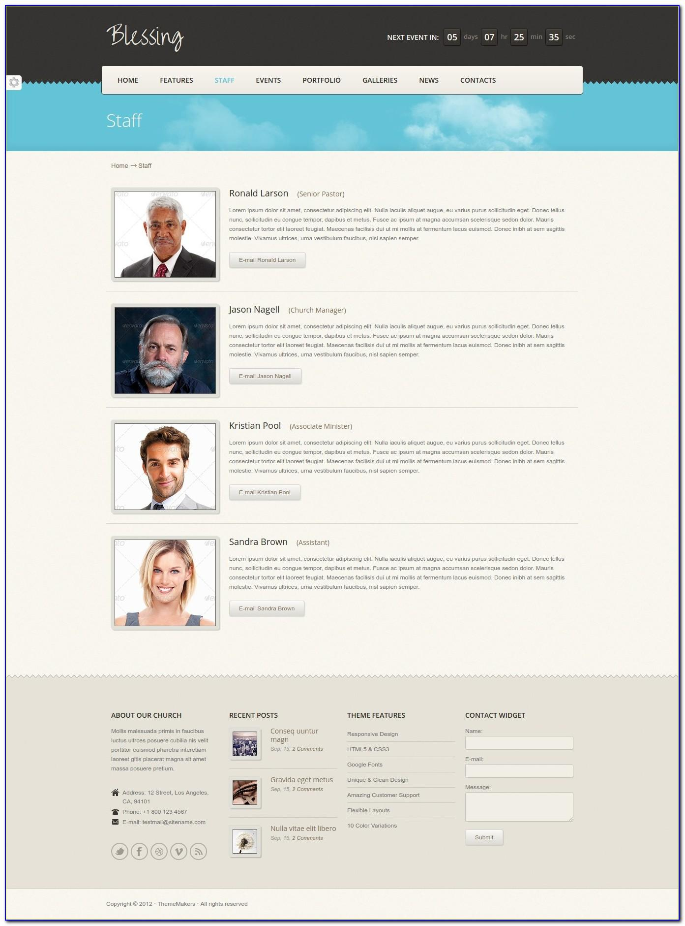 Staffing Company Website Template