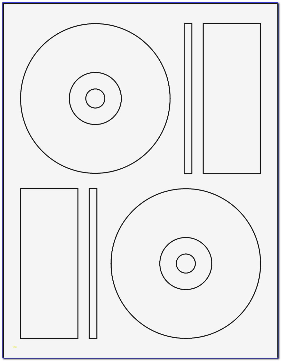 Staples Cd Label Sheet 2 Disc Labels Template