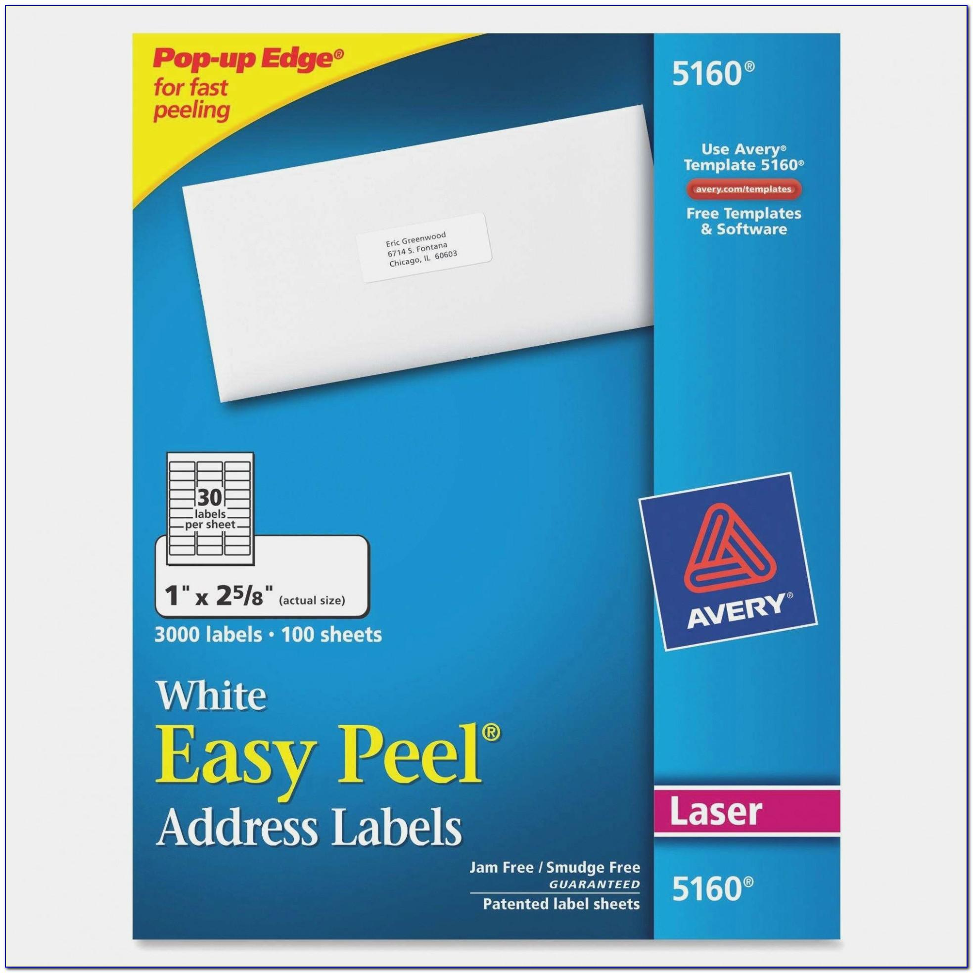 Staples Label Template Avery 5160