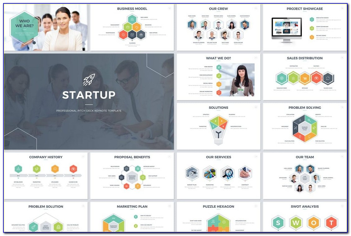 Startup Pitch Keynote Template