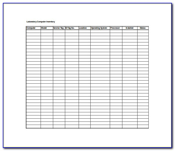 Stock Inventory Excel Template Free Download