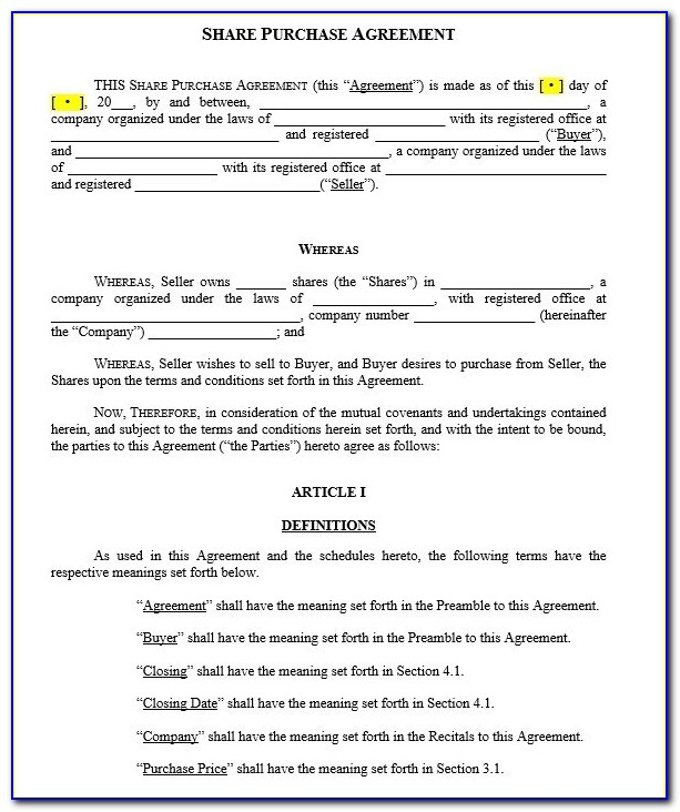 Stock Redemption Agreement Template