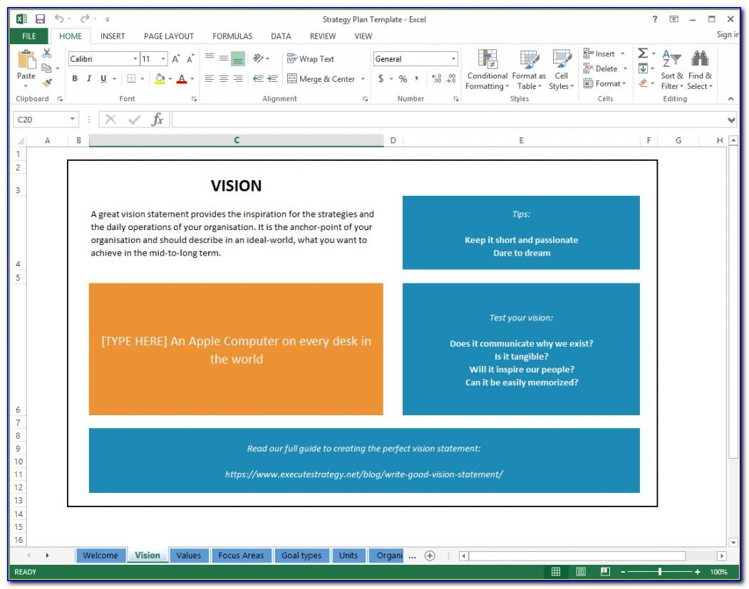 Strategic Action Plan Template Excel