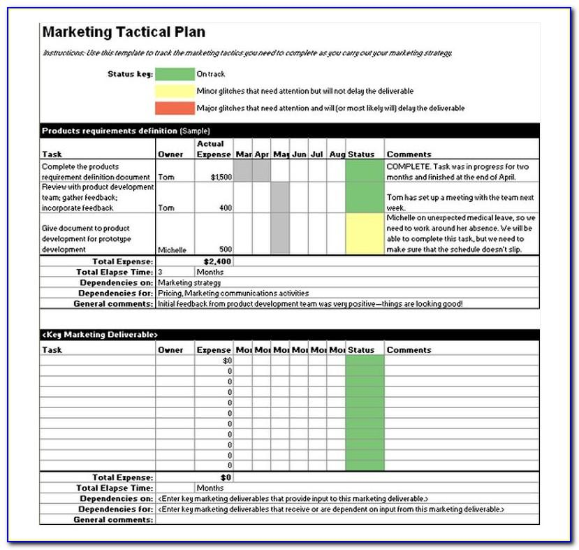 Strategic Marketing Plan Excel Template