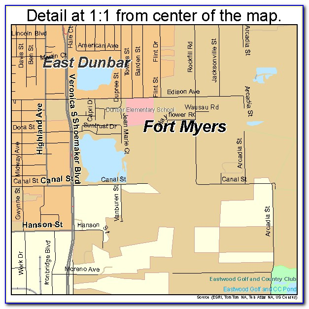 Street Map Of Fort Myers Beach Florida