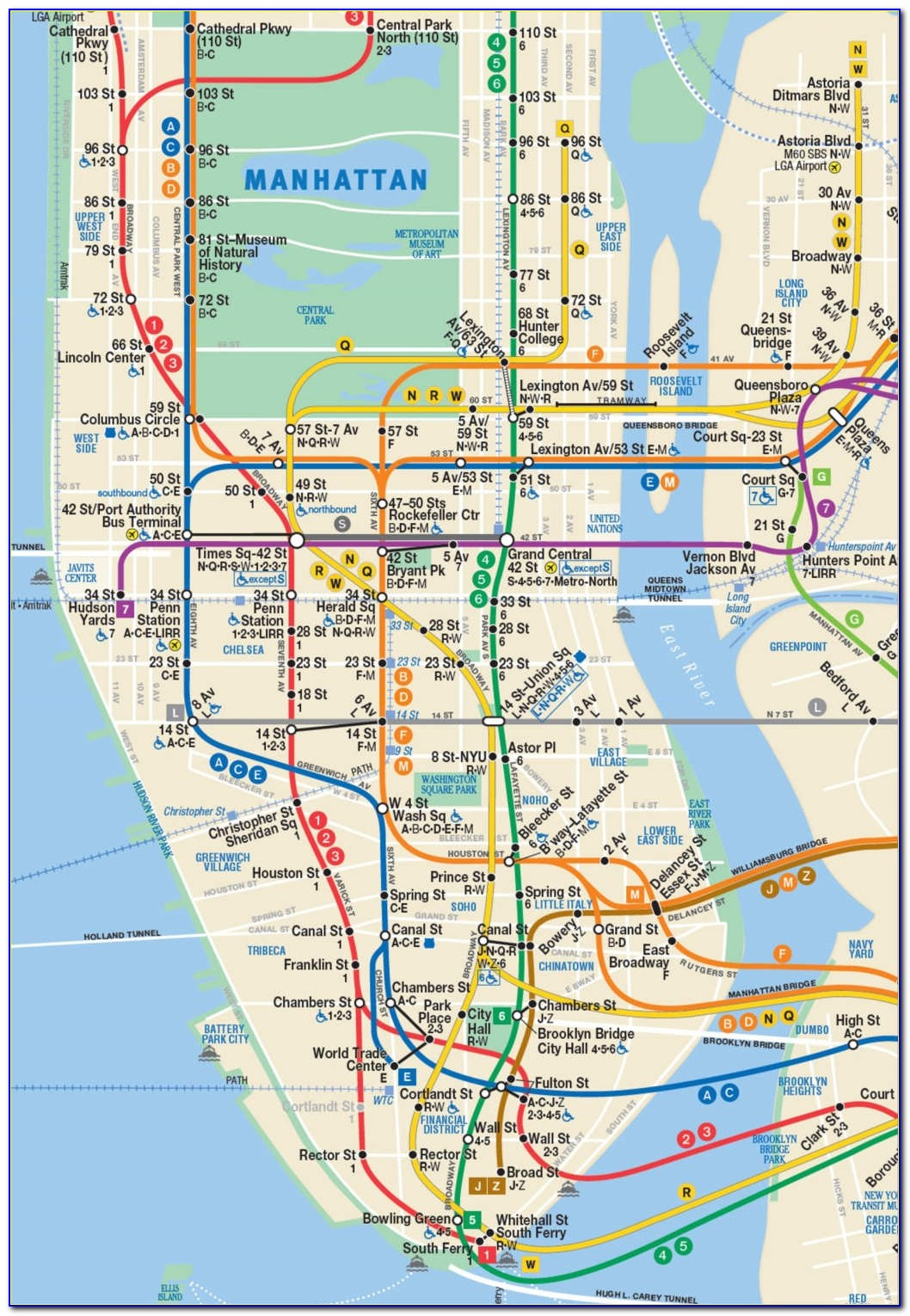 Subway Metro Map New York