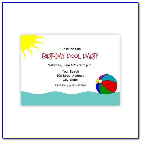 Summer Party Invitation Templates
