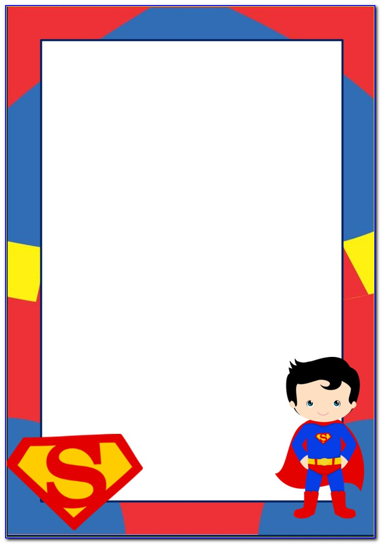 Superman Birthday Invitations Templates Free