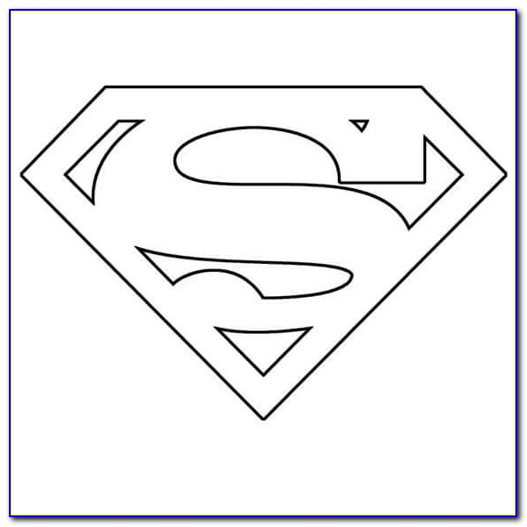 Superman Logo Template For Cake