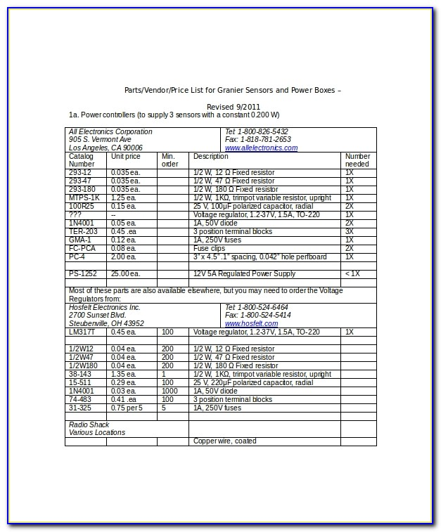 Supplier And Contract Database Template