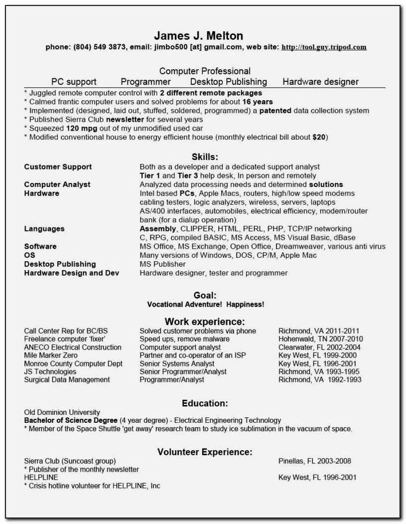 Entry Level Surgical Tech Resume