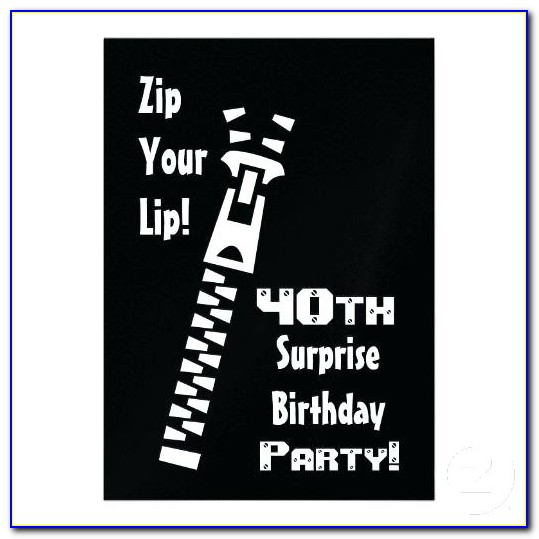 Surprise 60th Birthday Invitation Templates Free