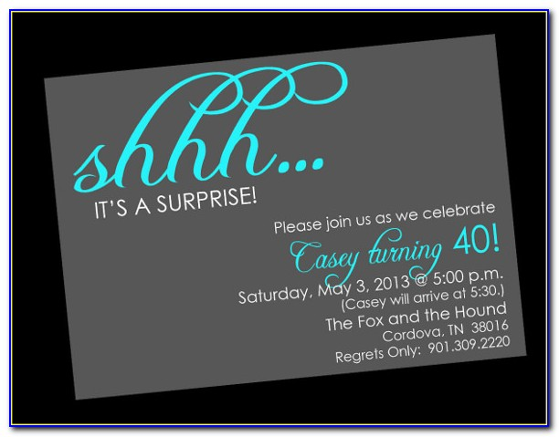 Surprise Birthday Invitation Templates Free Download