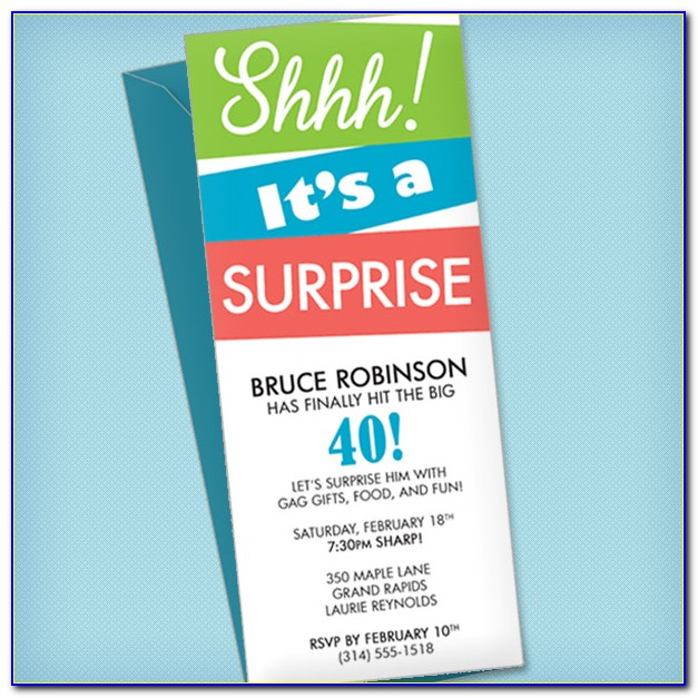 Surprise Party Invite Template Free