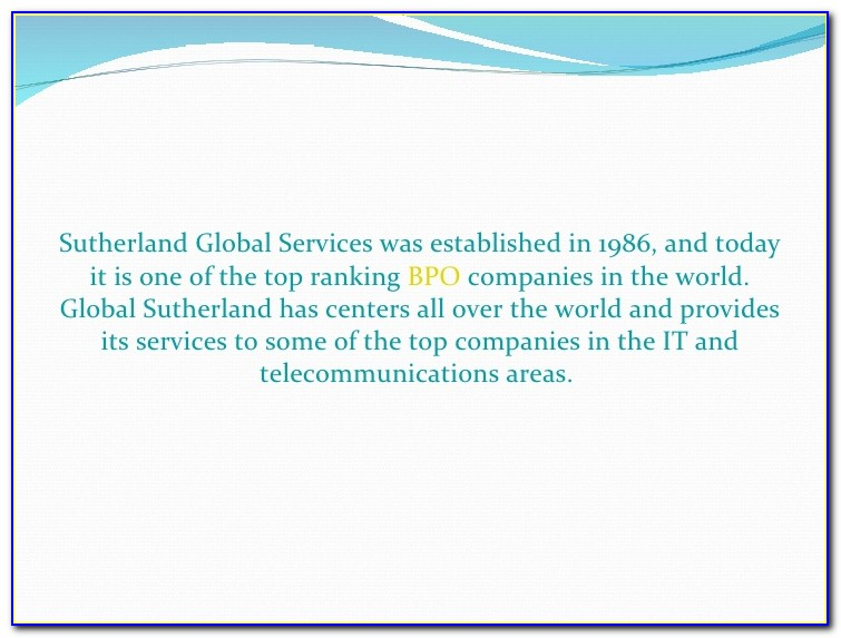 Sutherland Global Services Job Openings