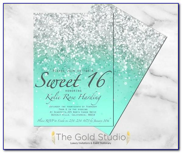 Sweet 16 Birthday Invitation Template
