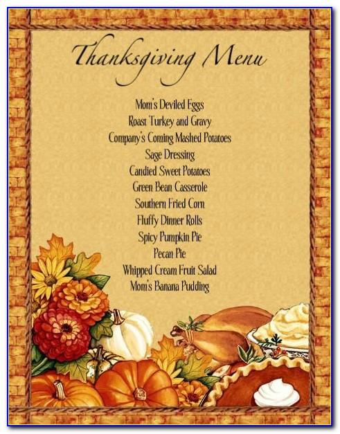 Table Place Cards Template Thanksgiving