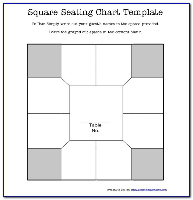 Table Seating Template Microsoft Word