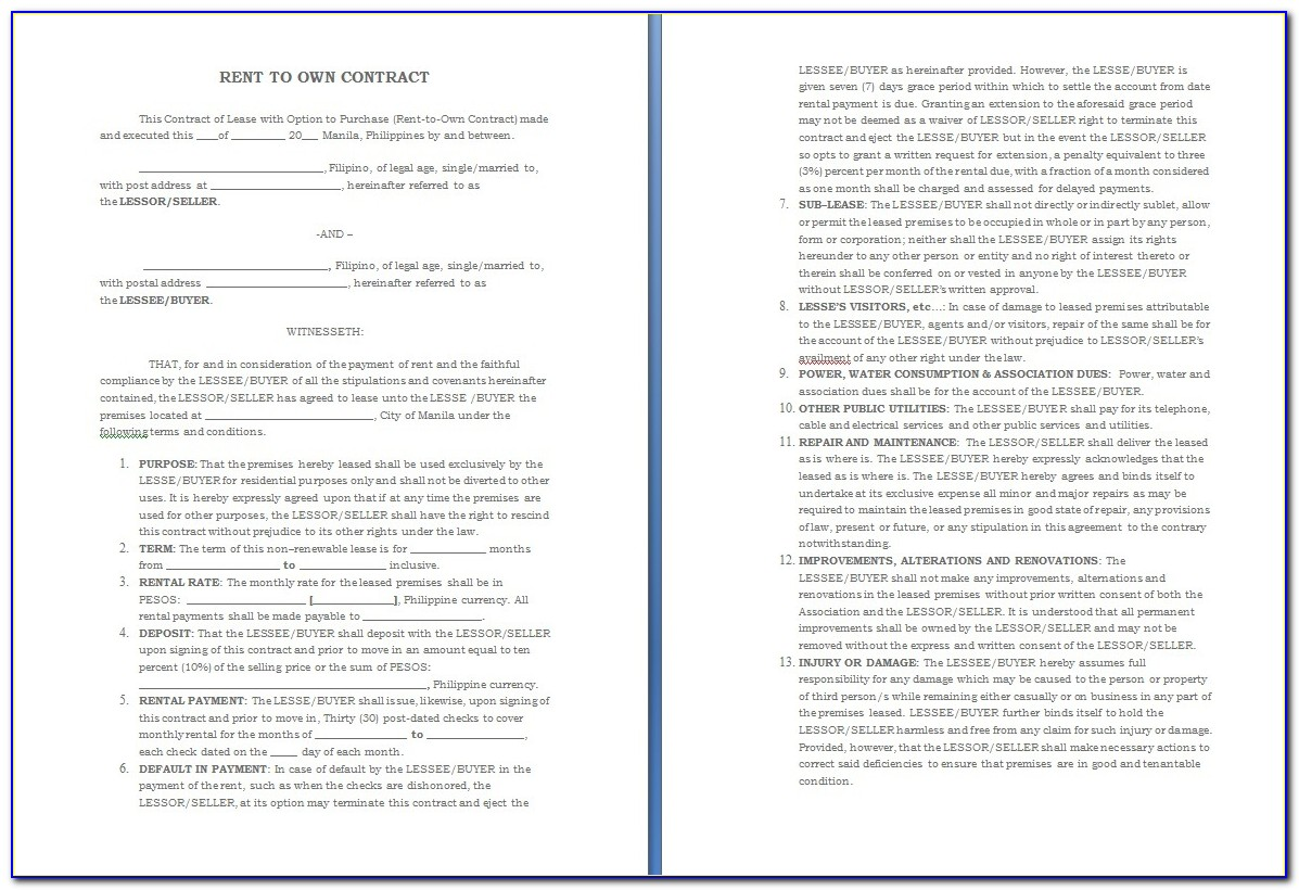 Take Over Car Payments Contract Template Pdf