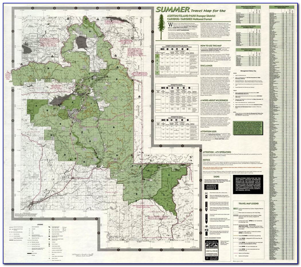Targhee National Forest Map