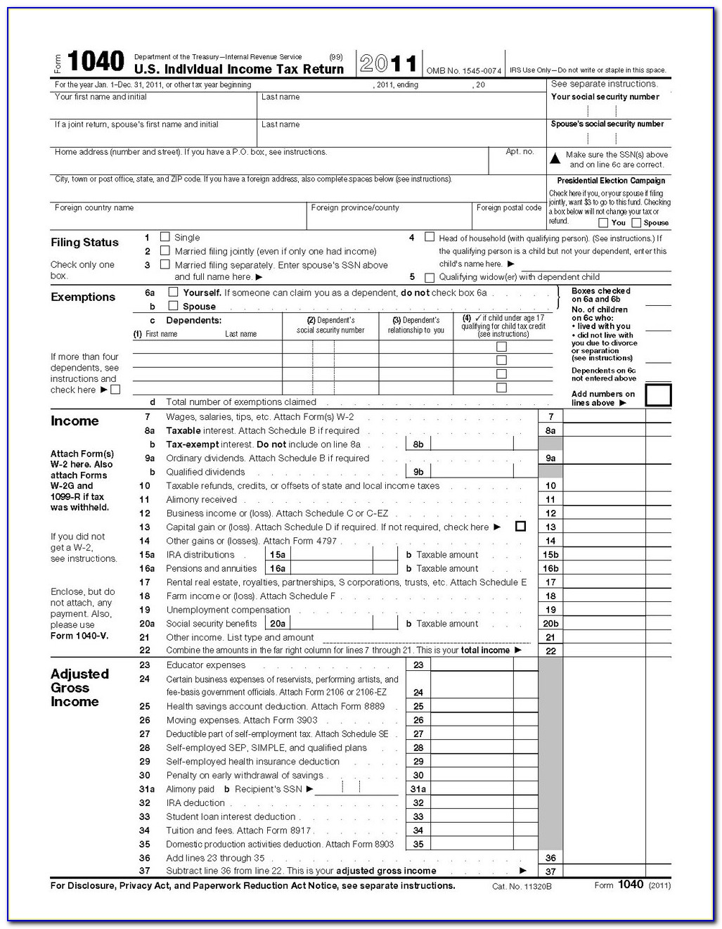 Tax Forms 1040a 2017