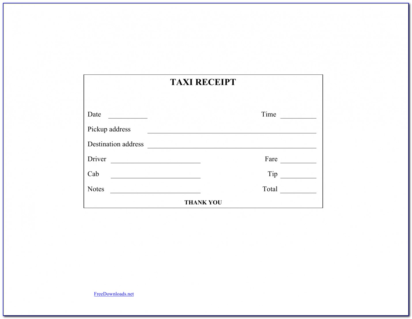 Download Blank Printable Taxi Cab Receipt Template Excel Pdf Taxi Invoice Template Vincegray2014