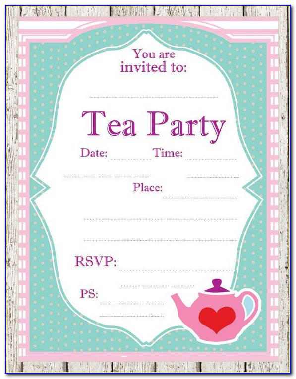 Free Victorian Tea Party Invitation Template