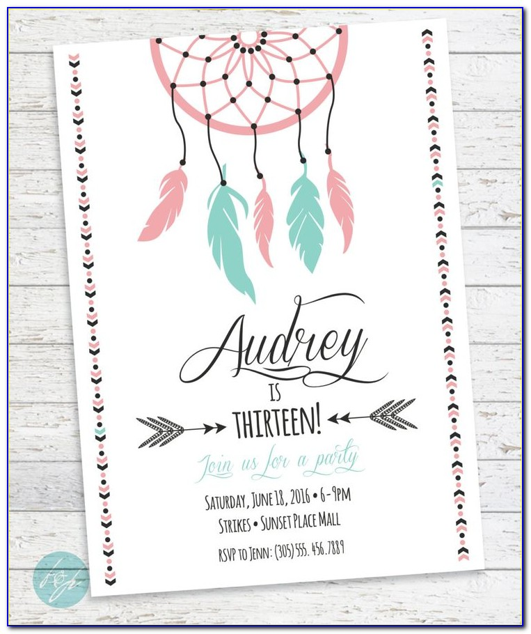 Teenage Party Invitation Templates Free
