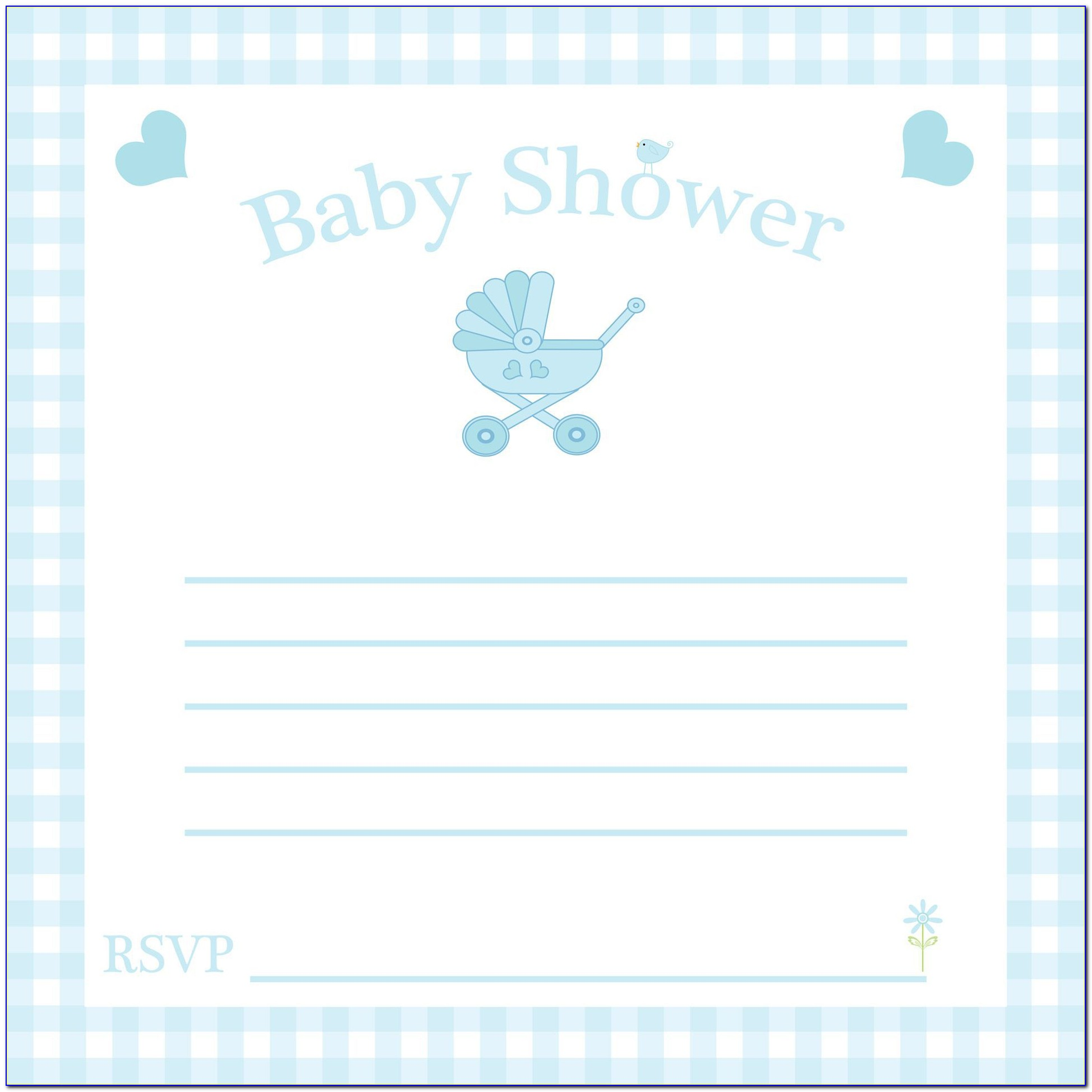 Template Baby Shower Invitation