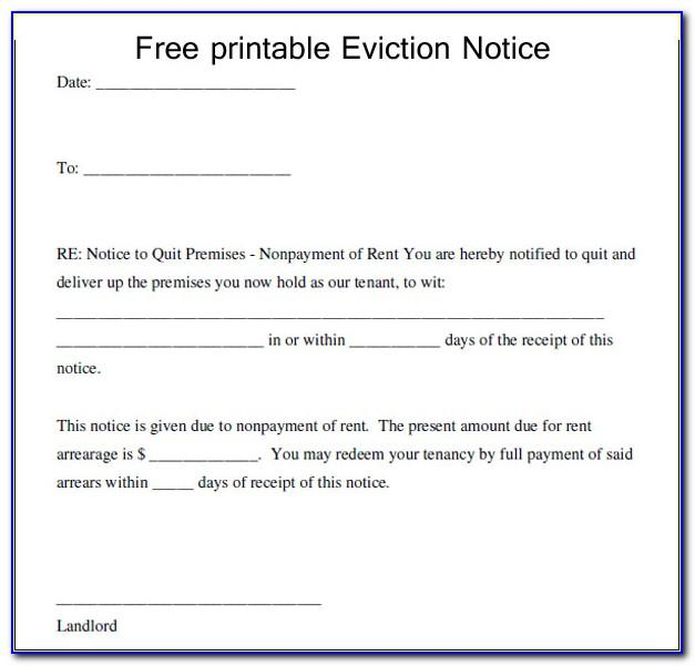 Template Eviction Letter Uk