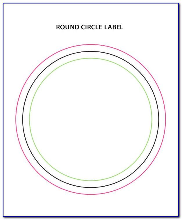 Template For 2.5 Circle Labels