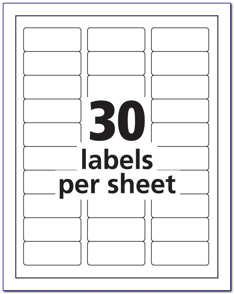 Template For Address Labels
