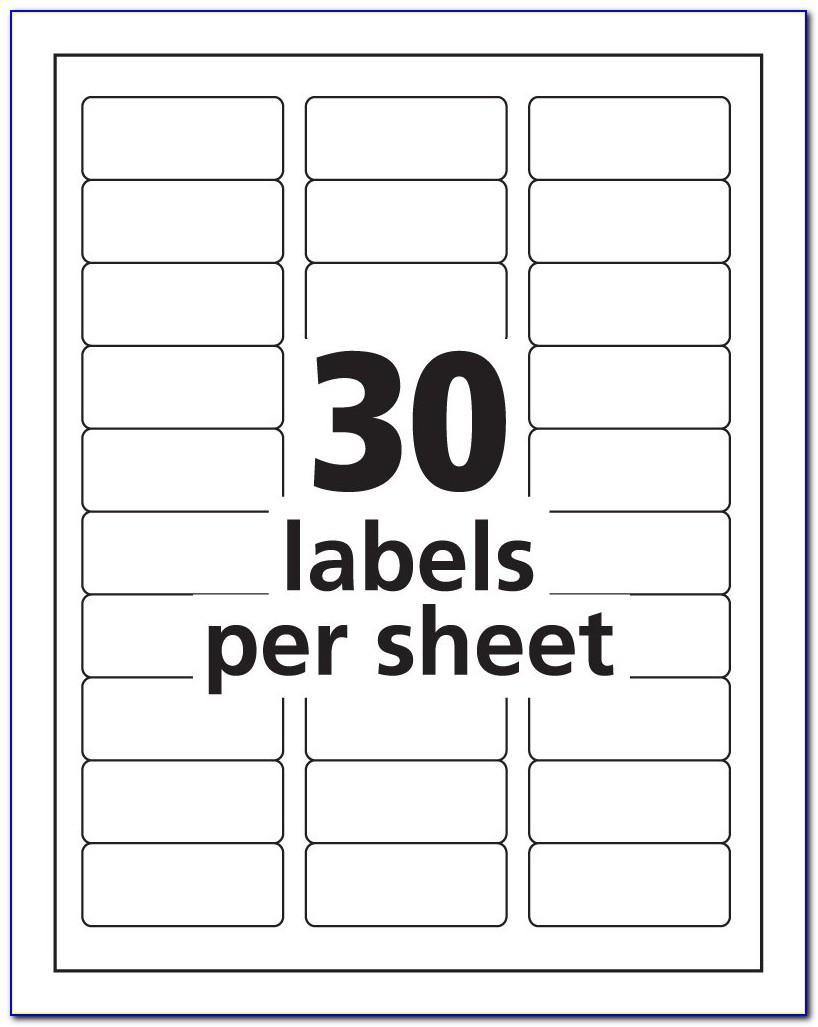 Template For Avery Labels L7163
