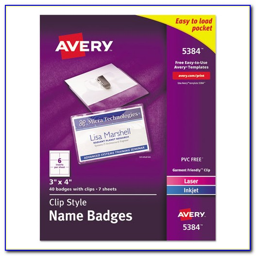 Template For Avery Name Badges 74549