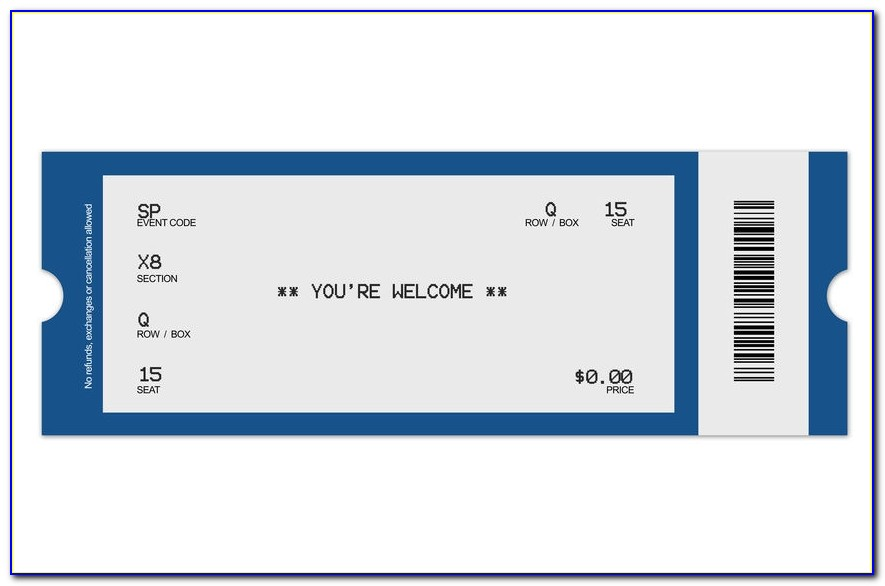 Concert Ticket Template Template Sample