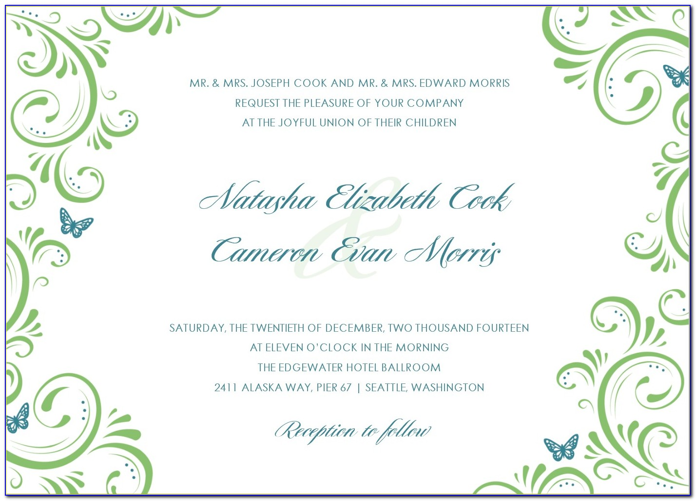Template For Invitation Cards