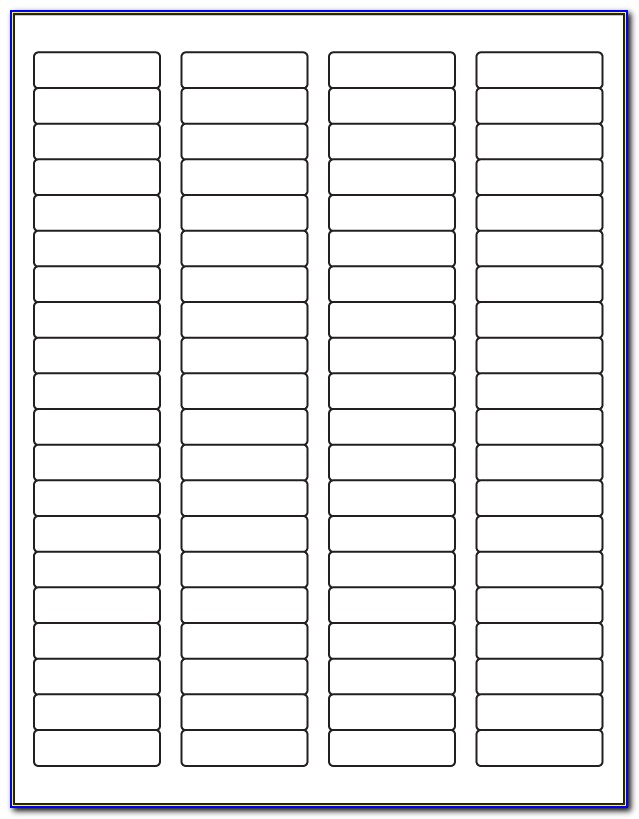 Template For Mailing Labels 80 Per Sheet