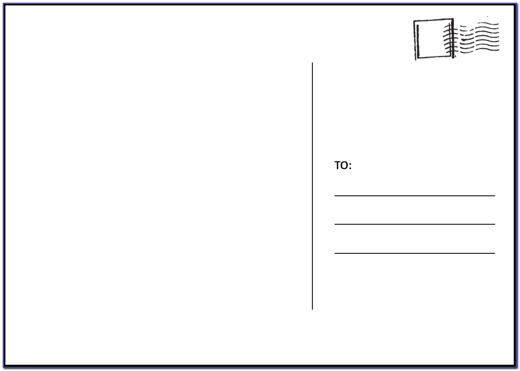 Template For Postcards 4 Per Page