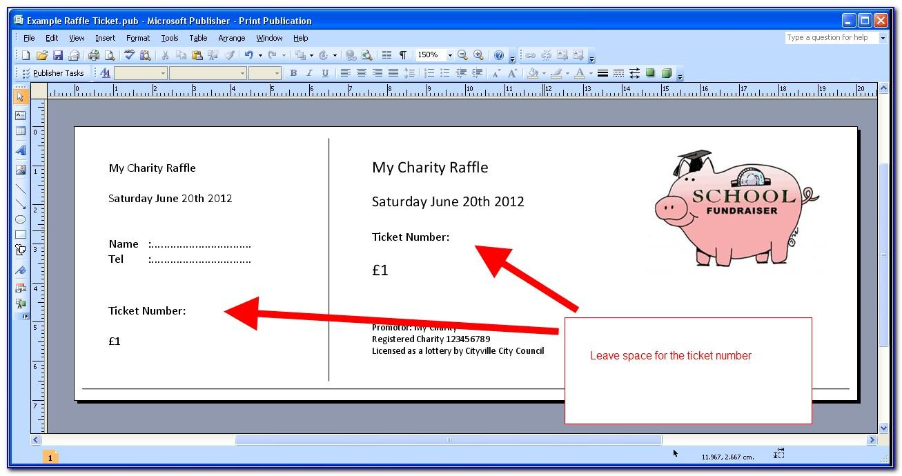 Template For Raffle Tickets Free Vincegray2014